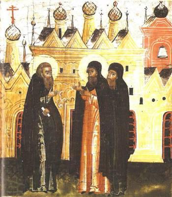 Дионисий освящает церковь и создаёт монастырь