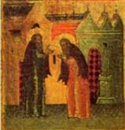 Дионисий благословляет Амфилохия