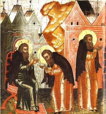 Дионисий дает келью преподобному Амфилохию