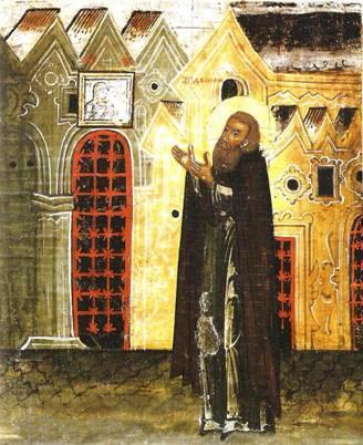 Дионисий молится Богородице «о мире и спасении