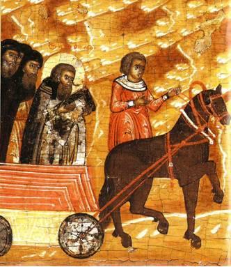 Перевезение гроба Дионисия в Сосновецкую обитель