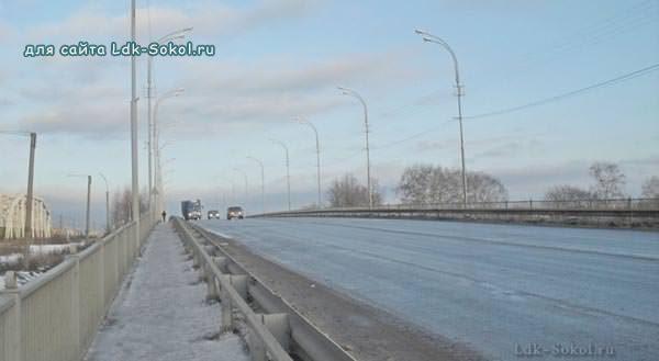 Автодорожный мост в Соколе (зима - 2012 год)