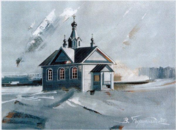 Часовня Александра Невского в деревне Меленка