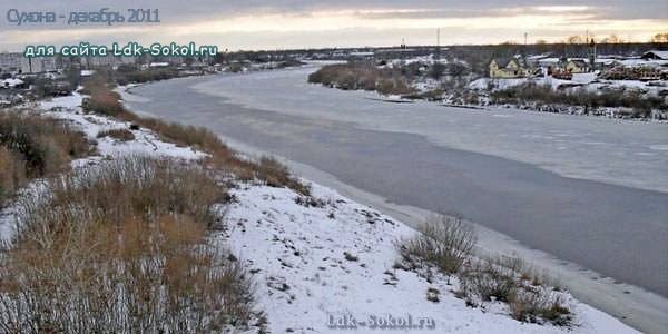 Река Сухона зимой