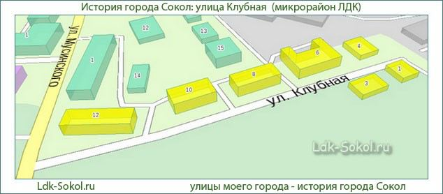Улица Клубная, город Сокол