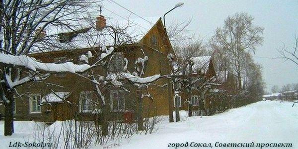 Советский (ранее Невский) проспект в городе Соколе