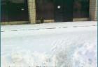 Зимние Барьеры на пути к автостанции