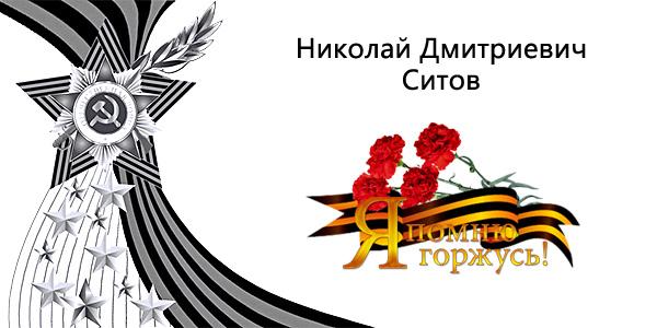 Ситов Николай Дмитриевич