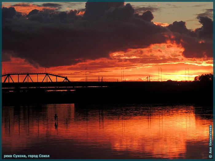 Закат - река Сухона