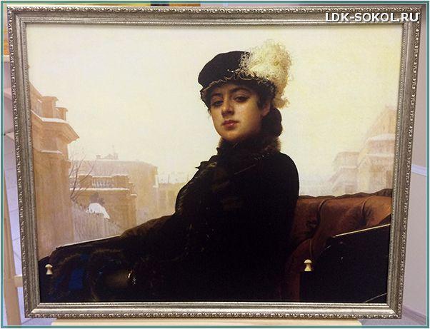 картина Ивана Крамского «Портрет неизвестной» (Незнакомка)