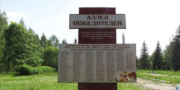 Аллея Победителей - город Сокол
