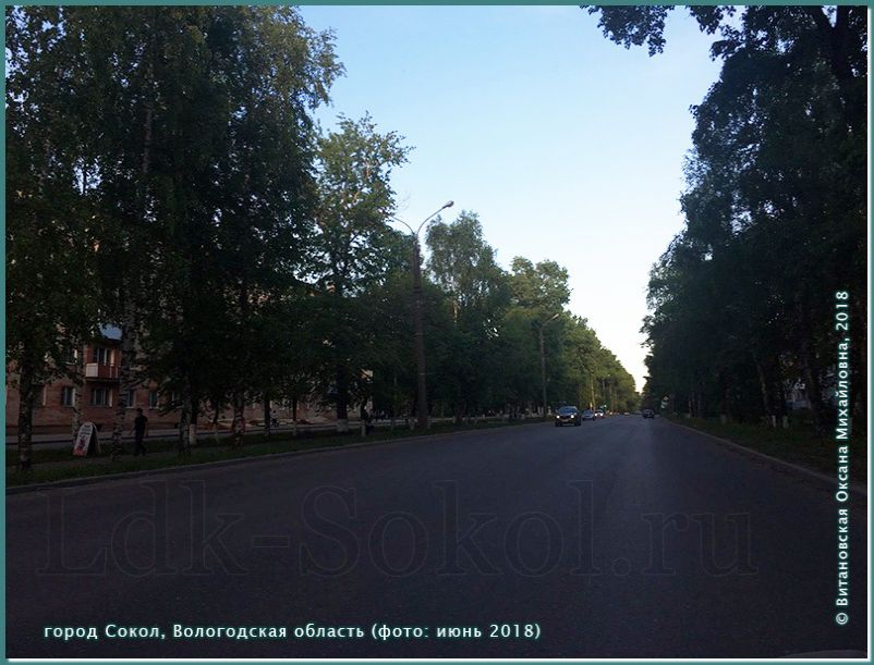 город Сокол, июнь 2018