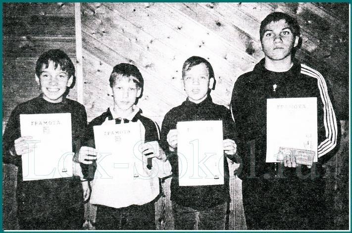 Команда спортсменов из города Сокола на чемпионате России в августе 2000