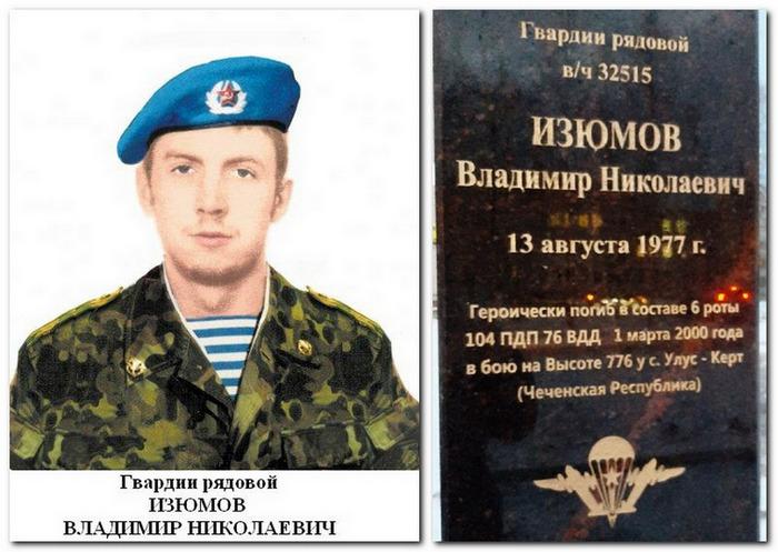 Памятный бюст Изюмову Владимиру