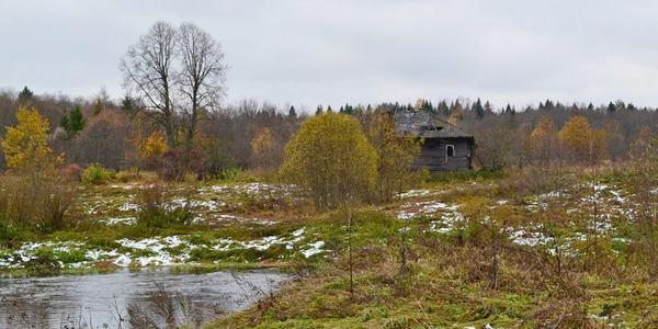 Заброшенная деревня Дор и река Пельшма