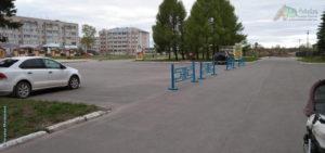 Площадь возле здания районной администрации (вечер 23 мая 2020)
