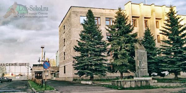 Памятник В. И. Ленину возле Сокольского ЦБК, г. Сокол