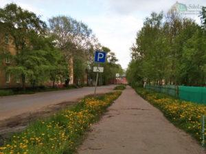 ул. Суворова, дорога возле ЦРБ г. Сокол