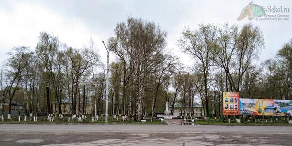 Пионерский сквер в городе Соколе