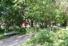 Территория возле городской больницы № 2 в Печаткино