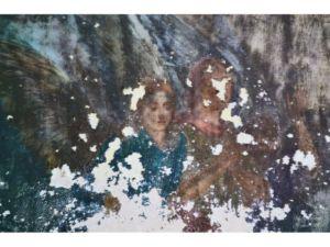 Сохранившиеся фрески в Николаевской церкви. Погост Оларево