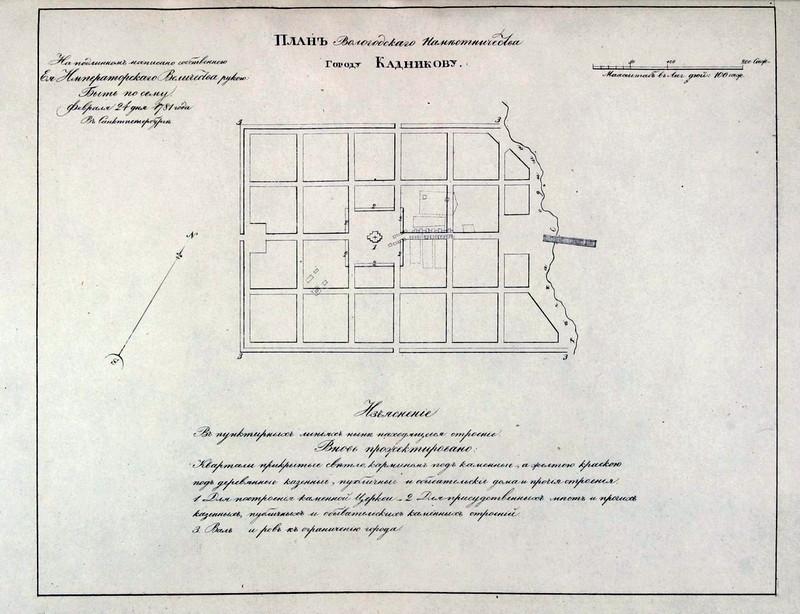 план застройки города Кадников